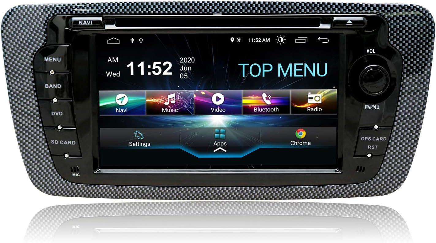 SWTNVIN Android 10.0 Unidad de audio estéreo para coche compatible con Seat 2009–2013 reproductor de DVD radio de 7 pulgadas pantalla táctil HD de 7 ...