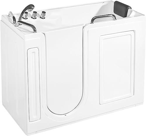Empava EMPV-WIT373 52.5″ Acrylic Freestanding Walk-in Bathtub