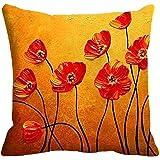 "meSleep Satin Cushion Cover 20""x 20"", Orange"
