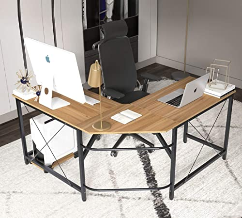 SDHYL Corner Desk Large Size L Shaped Desk Computer Desk Home Office Desk L Shaped