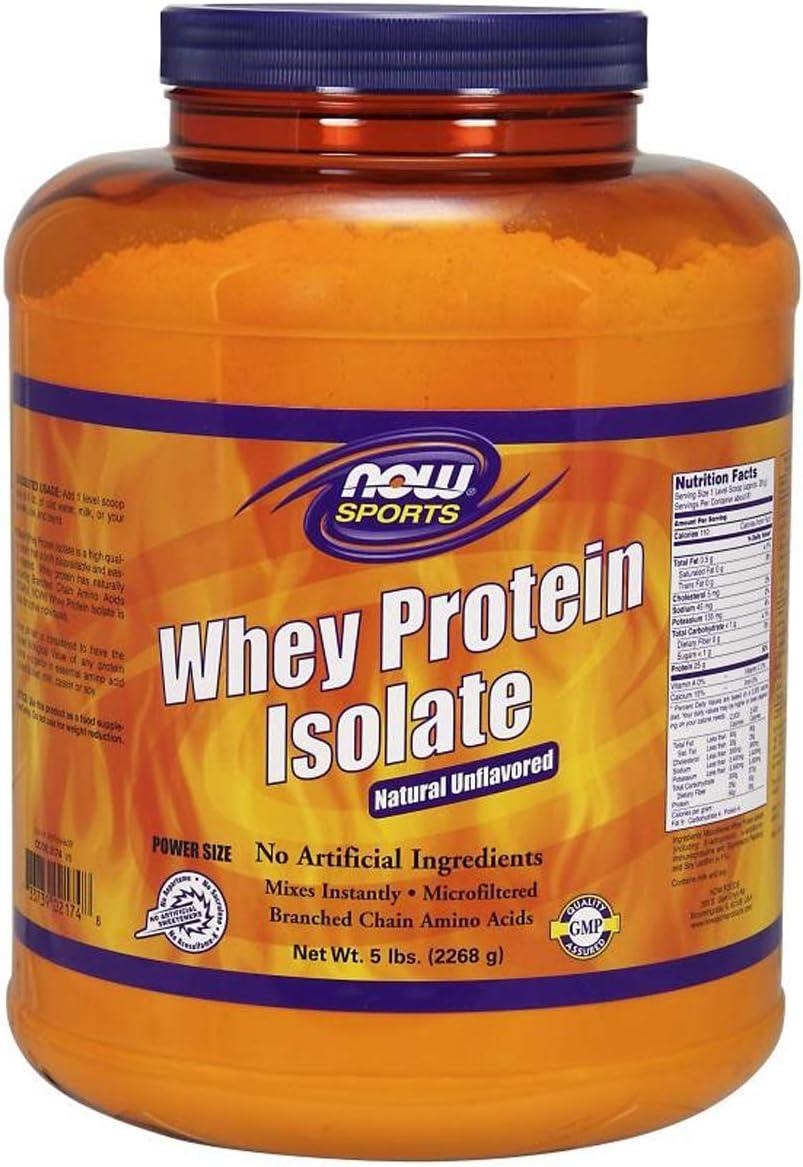 NOW Sports Whey Protein Isolate, 5-pound