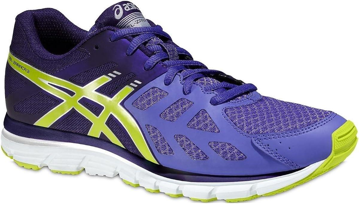 Asics Gel-Zaraca 3 - Zapatillas de running para mujer, Morado / Verde / Blanco, 39.5: Amazon.es: Zapatos y complementos