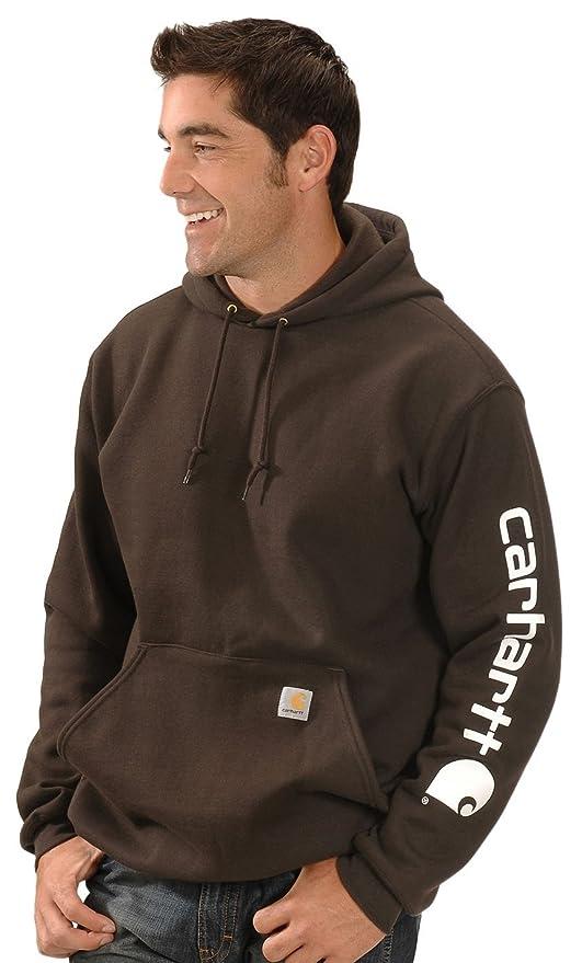 eaa74943c70 Carhartt Men's Midweight Sleeve Logo Hooded Sweatshirt at Amazon Men's  Clothing store: Fashion Hoodies