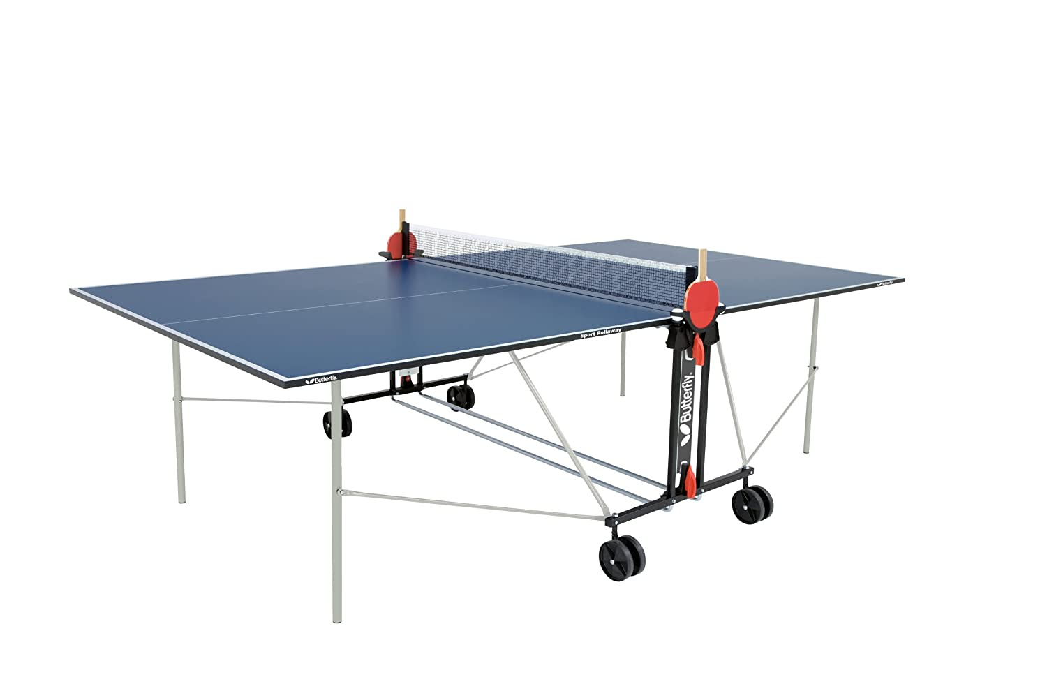 Amazon.com : Butterfly Sport Rollaway, Blue : Table Tennis Tables ...