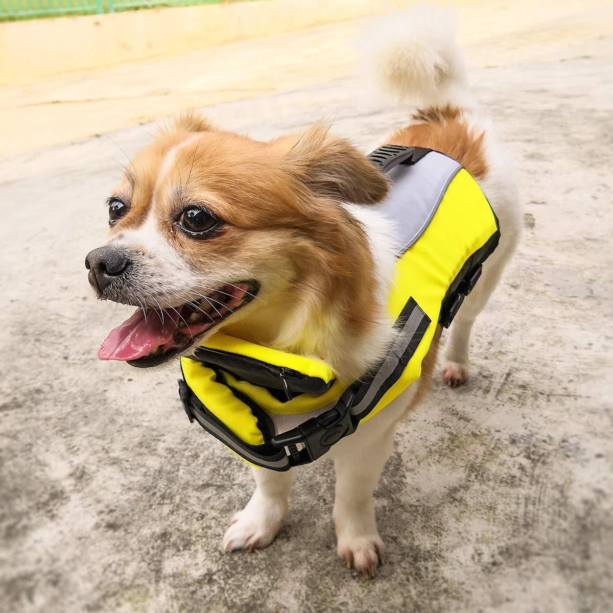 43454fcf4efe5 Small Raincoat Dog Life Jacket, Foldable Adjustable Pet Vest Safety ...
