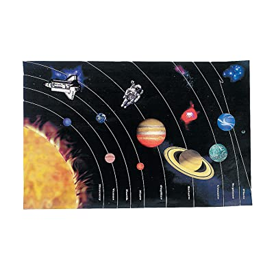 Fun Express Dyo Giant Planet Sticker Scene - 12 Pieces - Educational and Learning Activities for Kids: Toys & Games