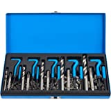 CO-Z 131pcs SAE Thread Repair Tool Kit | HSS Drill Bits Taps Threaded Inserts Installation Tool and Tang Break-Off Tool…