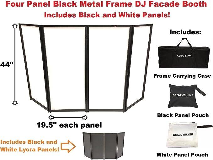 wiring diagram 1969 dj 5a amazon com cedarslink dj event facade white black scrim metal  amazon com cedarslink dj event facade