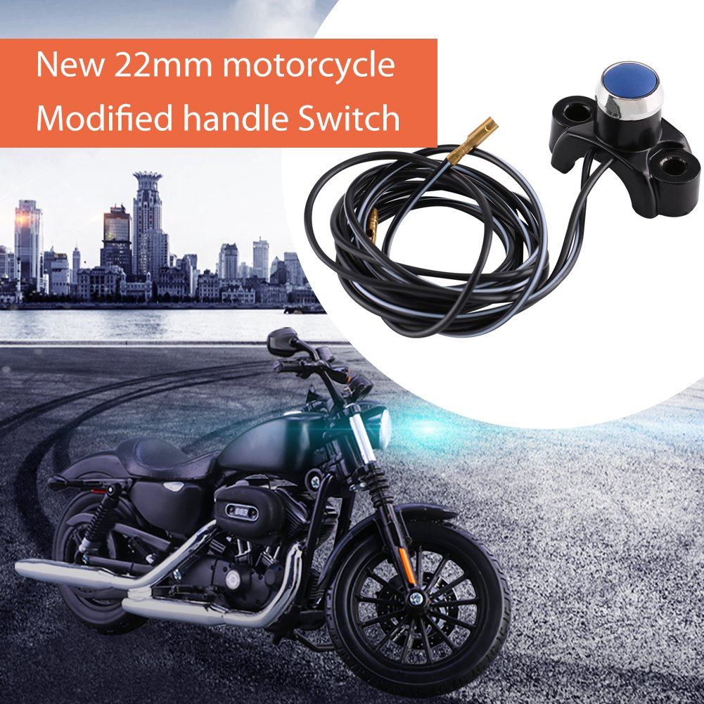 Type C Motorcycle ATV 7//8 Handlebar Control Switch Universal Handlebars Mount Engine Start Stop Kill Button Switch for Pit Dirt Bike ATV Quad