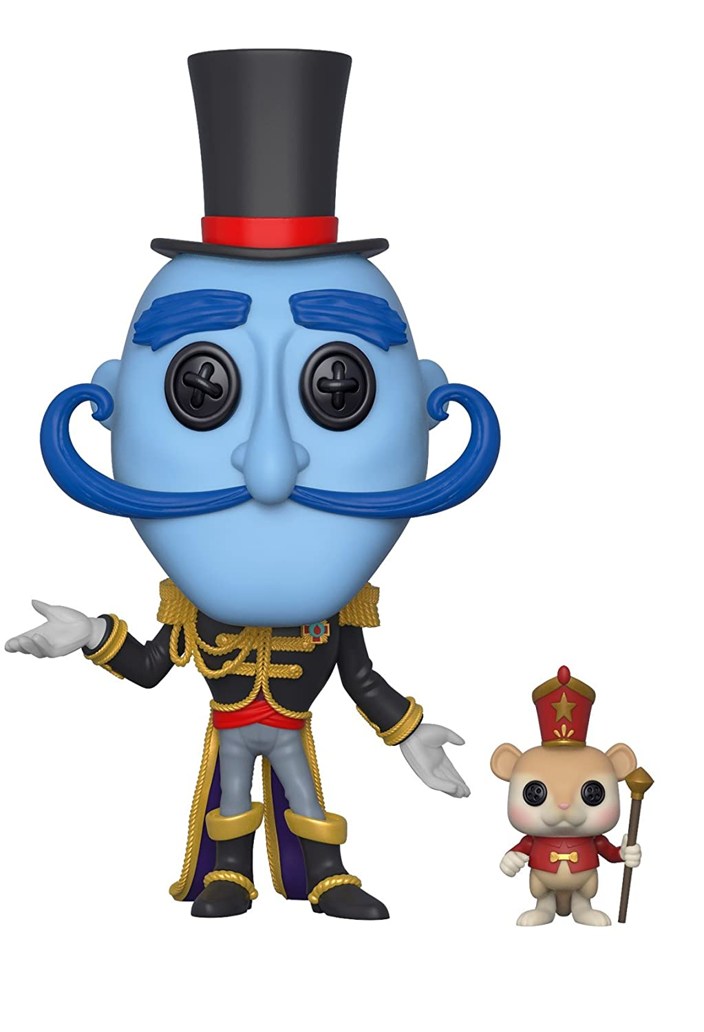 Funko Pop Movies: Coraline - Mr. Bobinsky with Mouse Collectible Figure, Multicolor