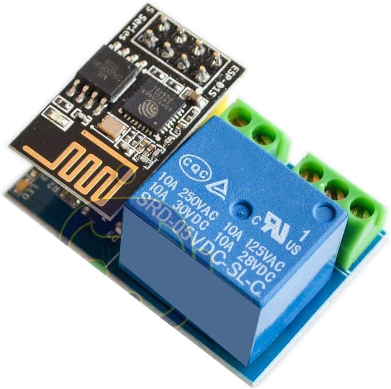 DEVMO ESP8266 ESP-01S Wireless WiFi Transceiver Relay Module Compatible with Arduino Smart Home Remote Control Unlock Set