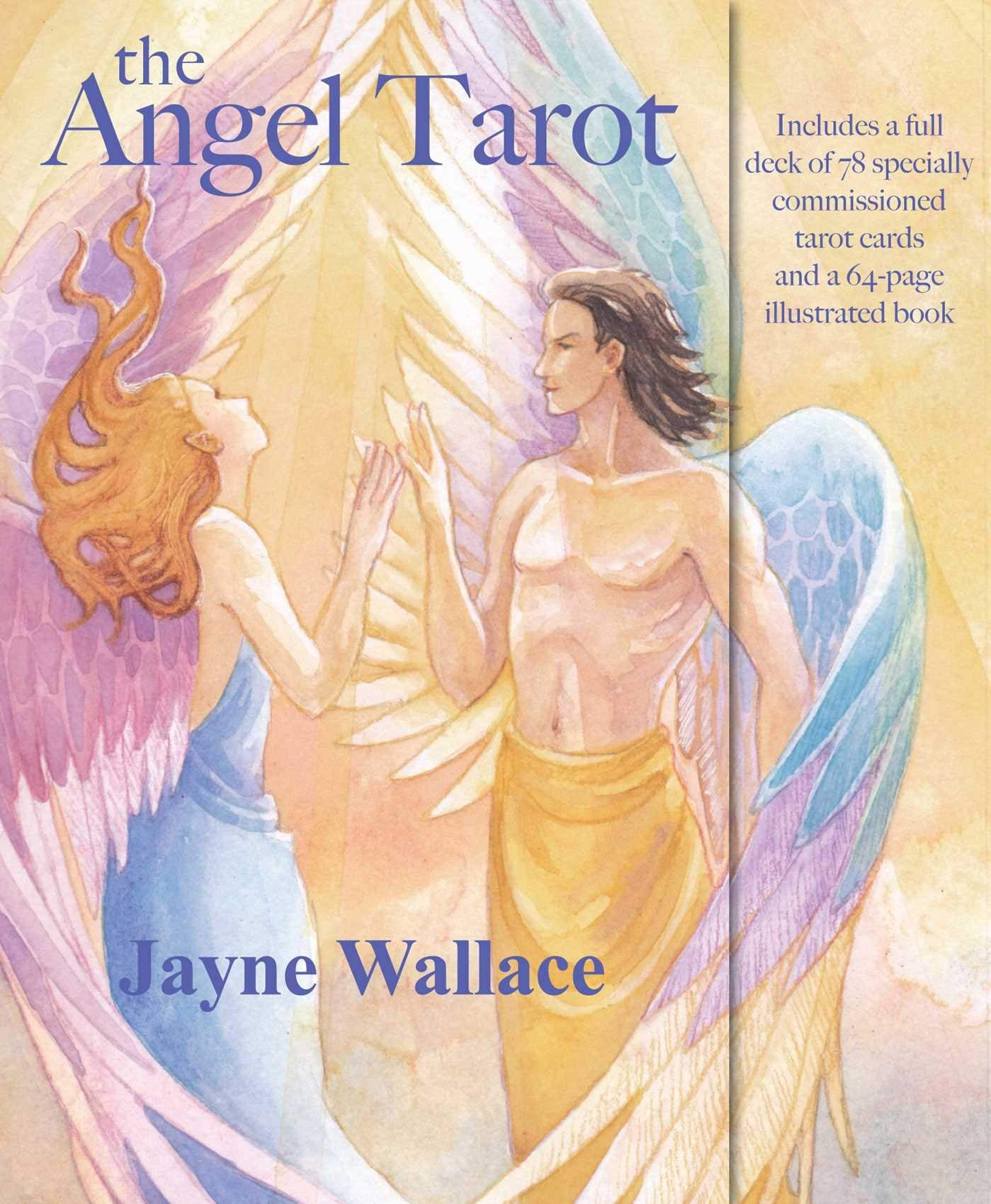 The Angel Tarot: Includes a full deck of 78 specially commissioned tarot cards and a 64-page illustrated book : Wallace, Jayne: Amazon.in: Books