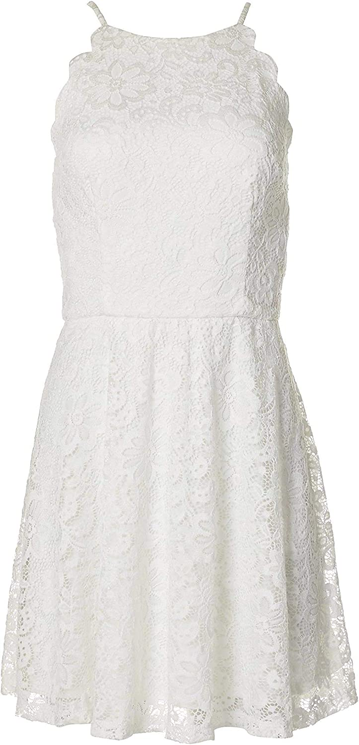 Byer Womens Lace Fit and Flare Dress A