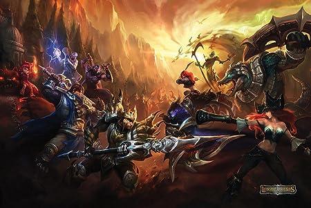Amazon Com 24x36 Poster League Of Legends Lol Warcraft 3 Defense