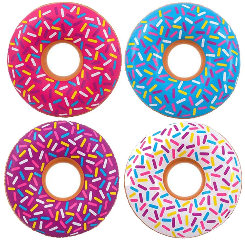 GIANT SIZE INFLATABLE 32 INCH DONUT WITH SPRINKLES