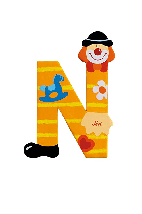 Sevi Letter N Clown Multi Color Amazon In Toys Games