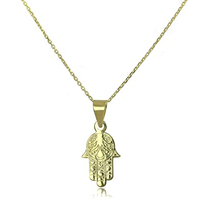 9ct gold hamsa hand pendant necklace on chain 16 inches all 9ct gold hamsa hand pendant necklace on chain 16 inches aloadofball Images