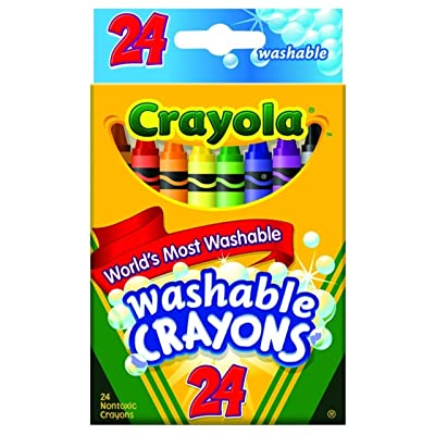Crayola Washable Crayons 24/Pkg 52-6924 (3-Pack): Toys & Games