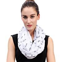 Lina & Lily Anchor Print Women's Infinity Scarf Lightweight