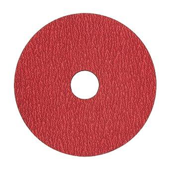 VSM 149142 Resin Fiber Disc Ceramic Coarse Grade Bright Red 40 Grit 5 X 7//8 Arbor Hole Fiber Backing Pack of 50