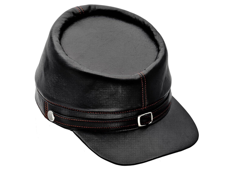Sterkowski Genuine Leather Mens Secession Kepi Civil War Cap