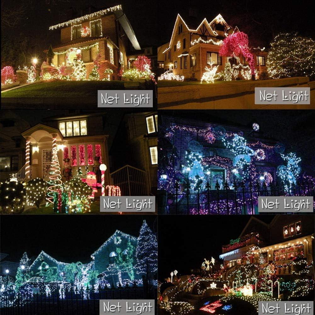 E-db E-db LED Lichternetz 3M x 2M 320LED Lichterkette Nachtlicht/Weihnachtsdekorationlichter/Weihnachten Hochzeit Vorhang Lichterkette Seile/Garten/Hotel/Festival/Dekoration Stimmungs (Blau) Mehrfarbig