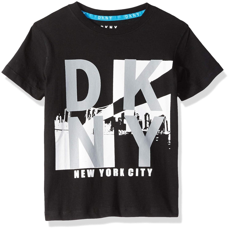 Amazon.com  DKNY Boys  Little Short Sleeve Crew Neck New York City  Reflective T-Shirt  Clothing 6193e819795