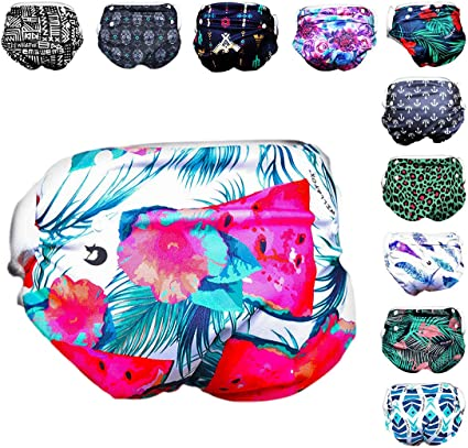 babygoal Reusable Swim Diaper One Size Adjustable and Washable Swim Underwear Fits 0-2 Years Babies and Swimming Lessons FSW19-CA