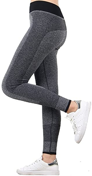 U.S. CROWN Women's Polyester Yoga Pants/Legging Women's Sports Tights & Leggings at amazon