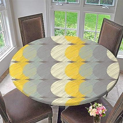 3812cc59bd0d Amazon.com  PINAFORE HOME Simple Modern Round Table Cloth Polka dot ...