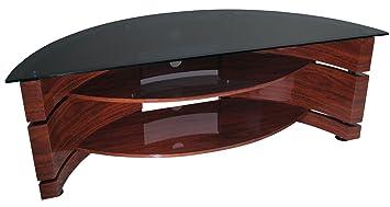 kaorka 842465 tv k41 mdf meuble tv avec tagres verre tremp fum pour cran 32