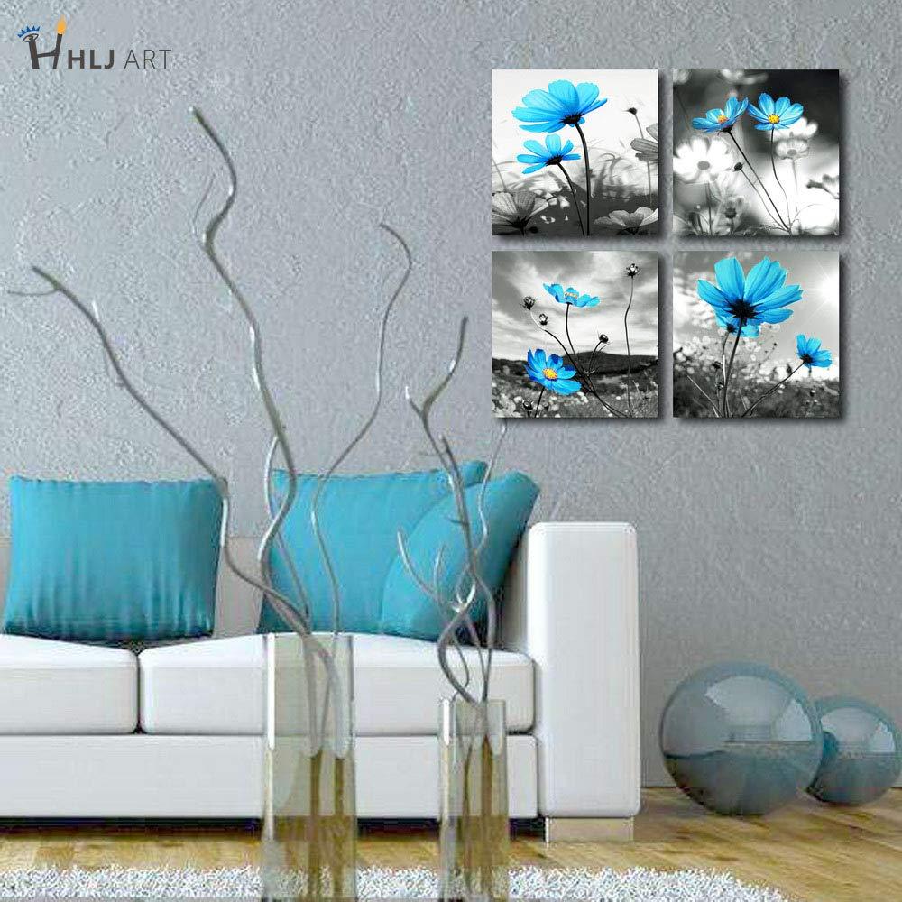 Amazon.com: HLJ Arts Modern Salon, vasija de flores azul y ...