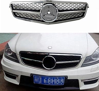 Für Benz W204 C Class Amg Stil Chrom Silber Gitter Grill 2008 2014 Von Motorfansclub Auto