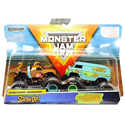 Scooby Doo & The Mystery Machine Double Down Showdown Monster Jam 2-Pack: Toys & Games