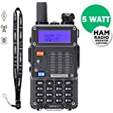 Baofeng Radio UV-5R MK3 2019 5W 1800mAh Li-ion Battery Mirkit Edition and Lanyard Mirkit Ham Radio Operator | Walkie Talkies Dual Band Ham Two Way Radios