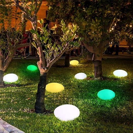 LHY LIGHT Luz de jardín Impermeable Adoquines Luces de césped USB ...