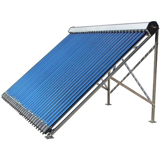 bleaclean 20 Tubo Calentador de agua solar marco de aluminio colector evacuado tubos de vacío color plata: Amazon.es: Bricolaje y herramientas