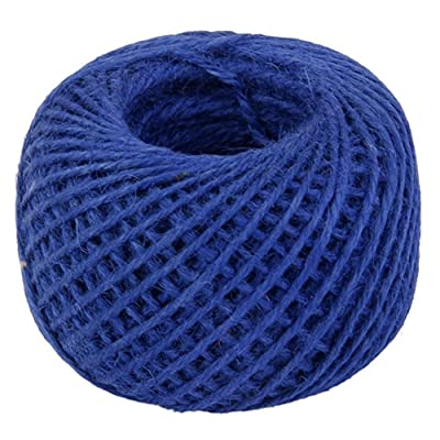 Qingsun 50m Natural Durable Jute Twine ball Hemp Rope for Arts Crafts Christmas Weeding Gift Industrial, Cake Packing, Gardening, Home Decor-Blue : Garden & Outdoor
