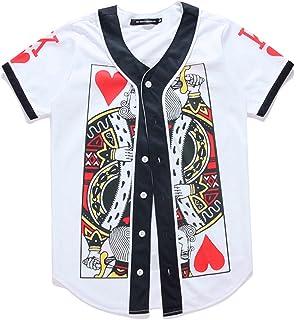Amazon.com  JC DISTRO Mens Hipster Hip Hop Button-Down Baseball ... a8d940f12