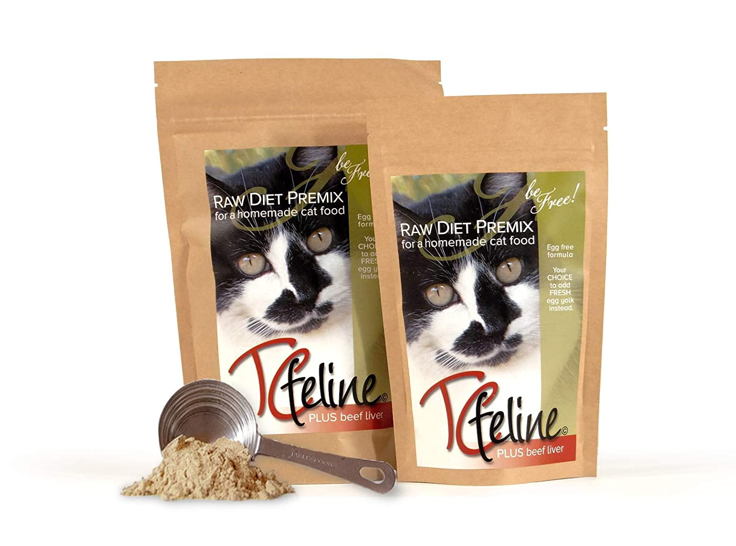 Amazon.com : TCfeline RAW Cat Food Premix/Supplement to make a Homemade,  All Natural, Grain Free, Holistic Diet - With Beef Liver (Trial 4.2 oz)