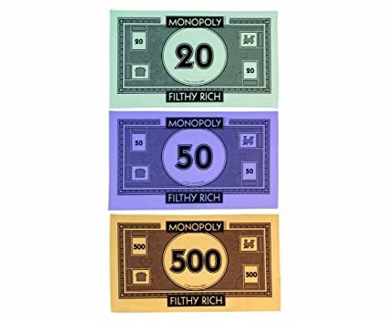 Gift Republic Monopoly Money Tea Towel, Pack of 3