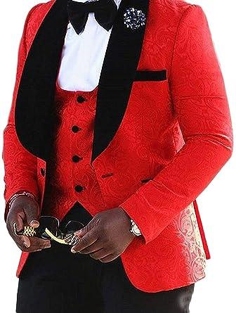 72957e655328 Lilis® Herrenmode One Button Jacquard Weave Herren Slim Fit Smoking Anzüge 3  Stück Sets