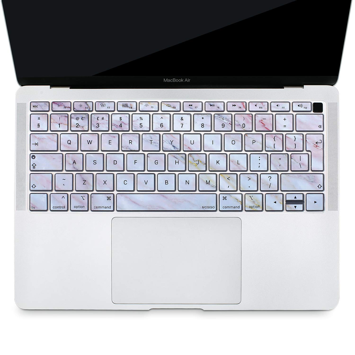 Waterproof Dust-Proof Protective Silicone Skin Clear MOSISO Keyboard Cover Compatible 2018 Newest MacBook Air 13 Inch A1932 with Retina Display /& Touch ID