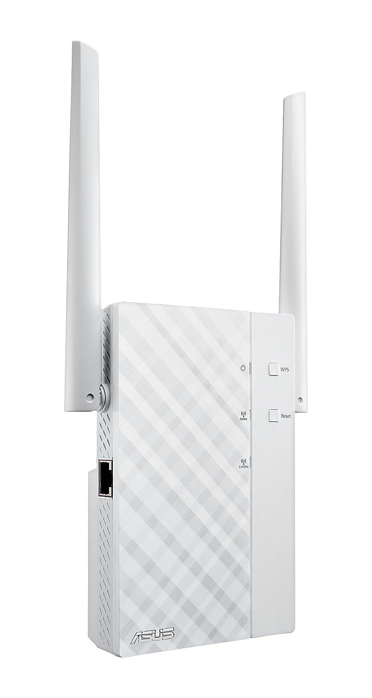 ASUS RP-AC56 - Repetidor inalámbrico AC1200 Dual-band Gigabit (punto de acceso, enchufe rotativo, antenas posicionales), blanco