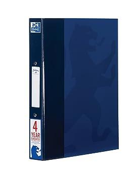 Oxford Campus - Carpeta de anillas, A4, Azul Marino, 1 unidad: Amazon.es: Oficina y papelería