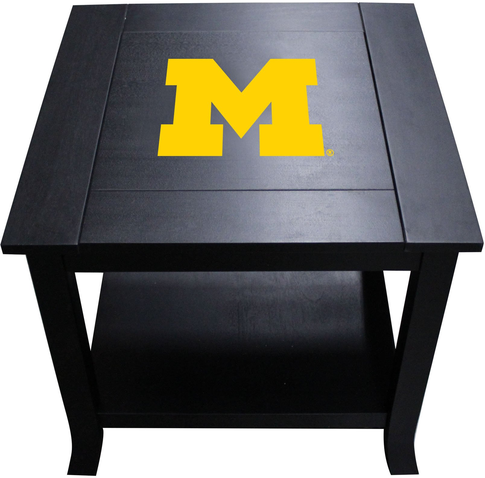 Imperial Officially Licensed NCAA Furniture: Hardwood Side/End Table, Michigan Wolverines by Imperial