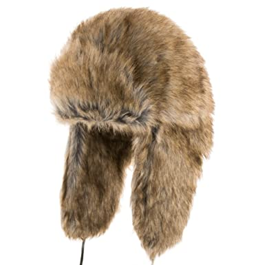 Ferris Trapper Faux Fur Ushanka Original Pilot Aviator Trooper Hat BROWN 7 11018d2209e