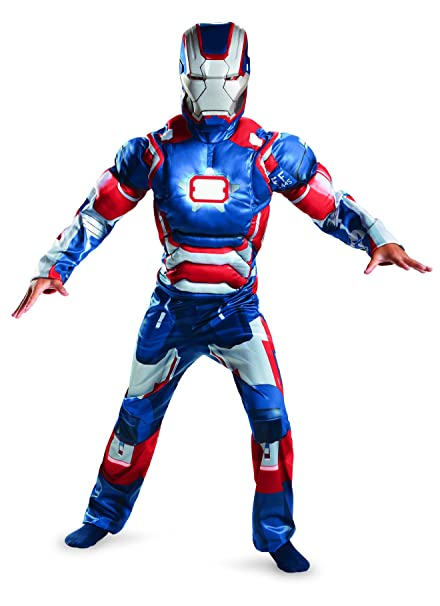 Disguise Marvel Iron Man Movie 3 Iron Patriot Boys Muscle Light Up Costume 10-  sc 1 st  Amazon.com & Amazon.com: Disguise Marvel Iron Man Movie 3 Iron Patriot Boys ...