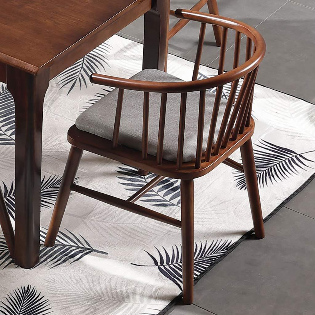 ZWJLIZI Matstol, nordisk massiv träprinsessstol, enkel skrivbordsstol/kaféförhandlingsstol/ryggstol (färg: B) Jag