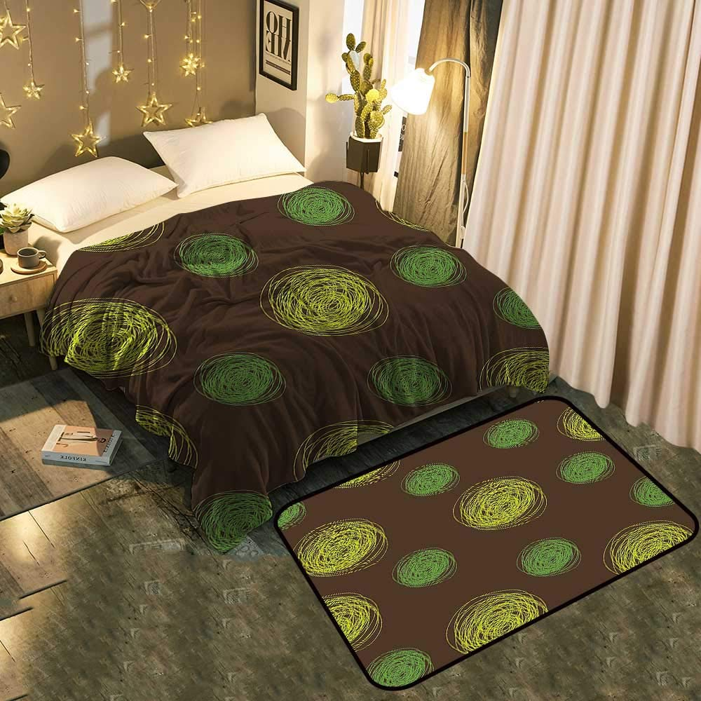 color02 Blanket 70 x90  Mat 39 x19  Bedside Blanket Doormat suitFunny Muzzy Frog on Lily Pad in Pond Hunting Tasty Fly Expressions Cartoon Cozy and Durable Blanket 60 x78  Mat 5'X8'